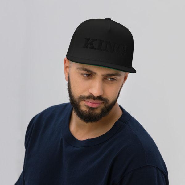 flat bill cap black front 60856df2bf84e