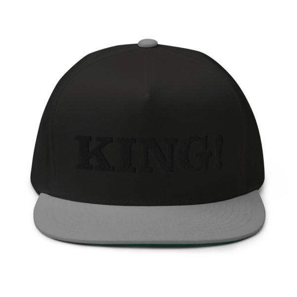 flat bill cap black grey front 60856df2bfa27