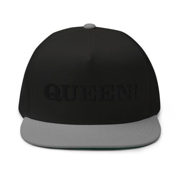 flat bill cap black grey front 60856f2ac3792