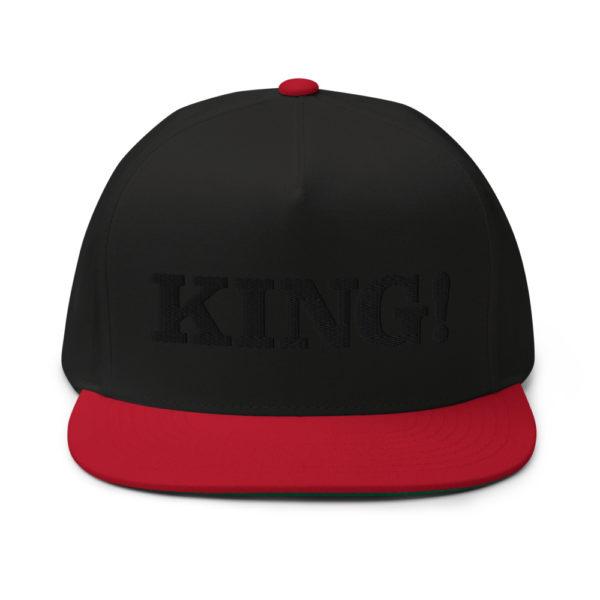 flat bill cap black red front 60856df2bfb7f