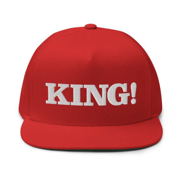 flat bill cap red front 60856bdb3cd61