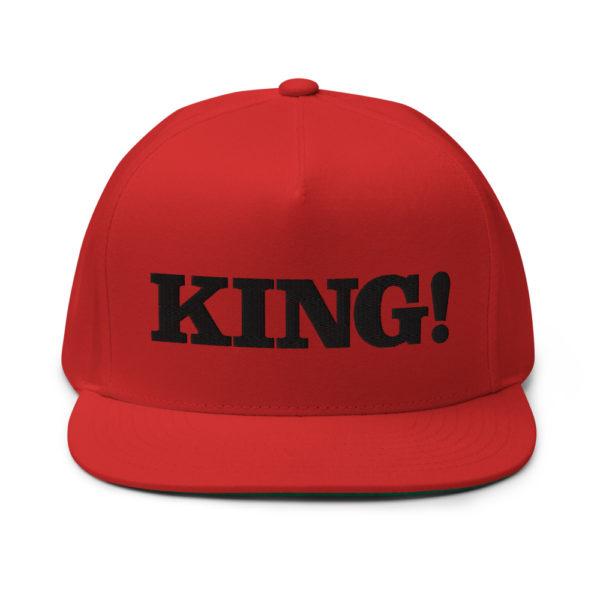 flat bill cap red front 60856df2bfe74
