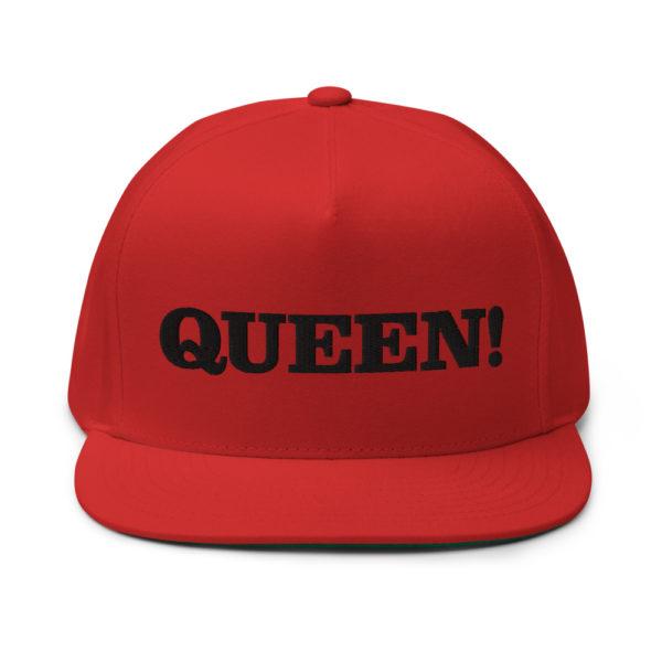 flat bill cap red front 60856f2ac3bcf