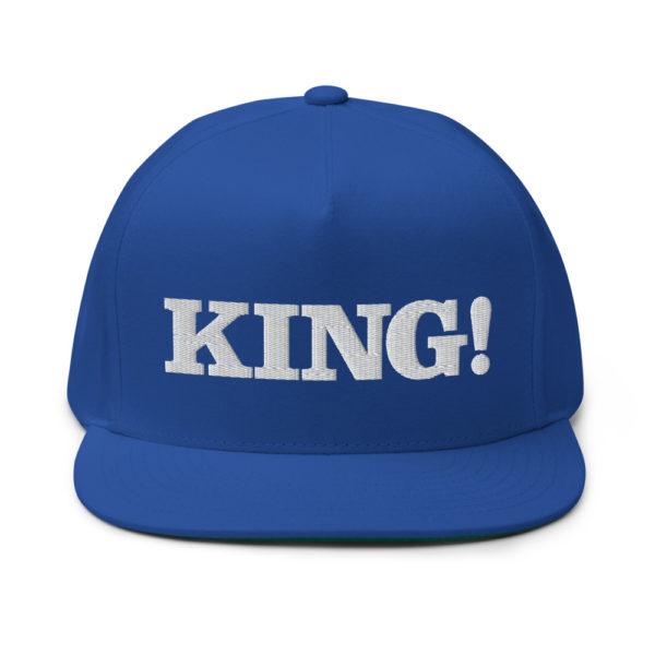 flat bill cap royal blue front 60856bdb3cc7d
