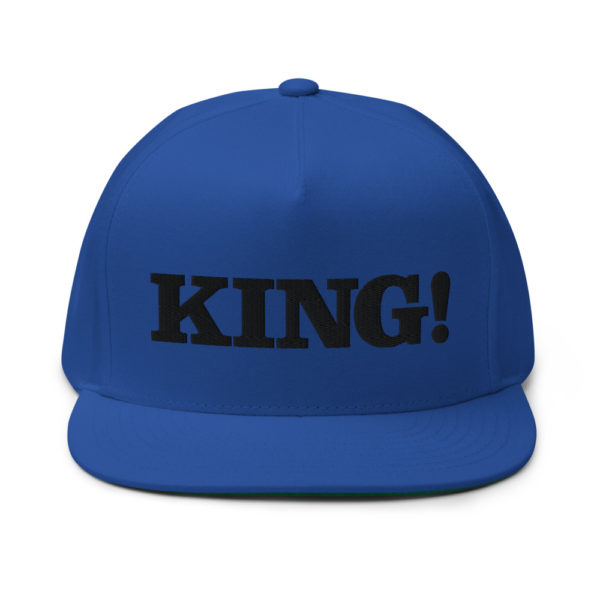 flat bill cap royal blue front 60856df2bfcee