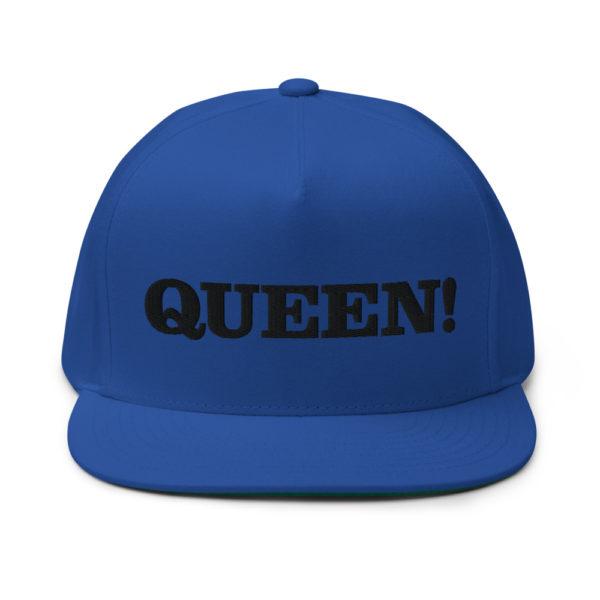 flat bill cap royal blue front 60856f2ac3a59