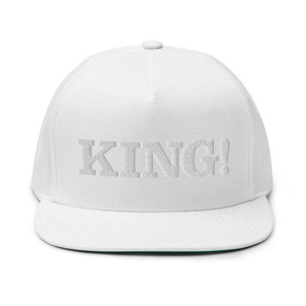 flat bill cap white front 60856bdb3d015