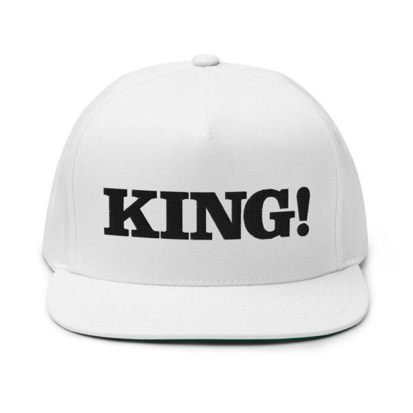 flat bill cap white front 60856df2c01ca