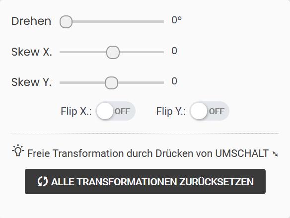 objekt transformieren