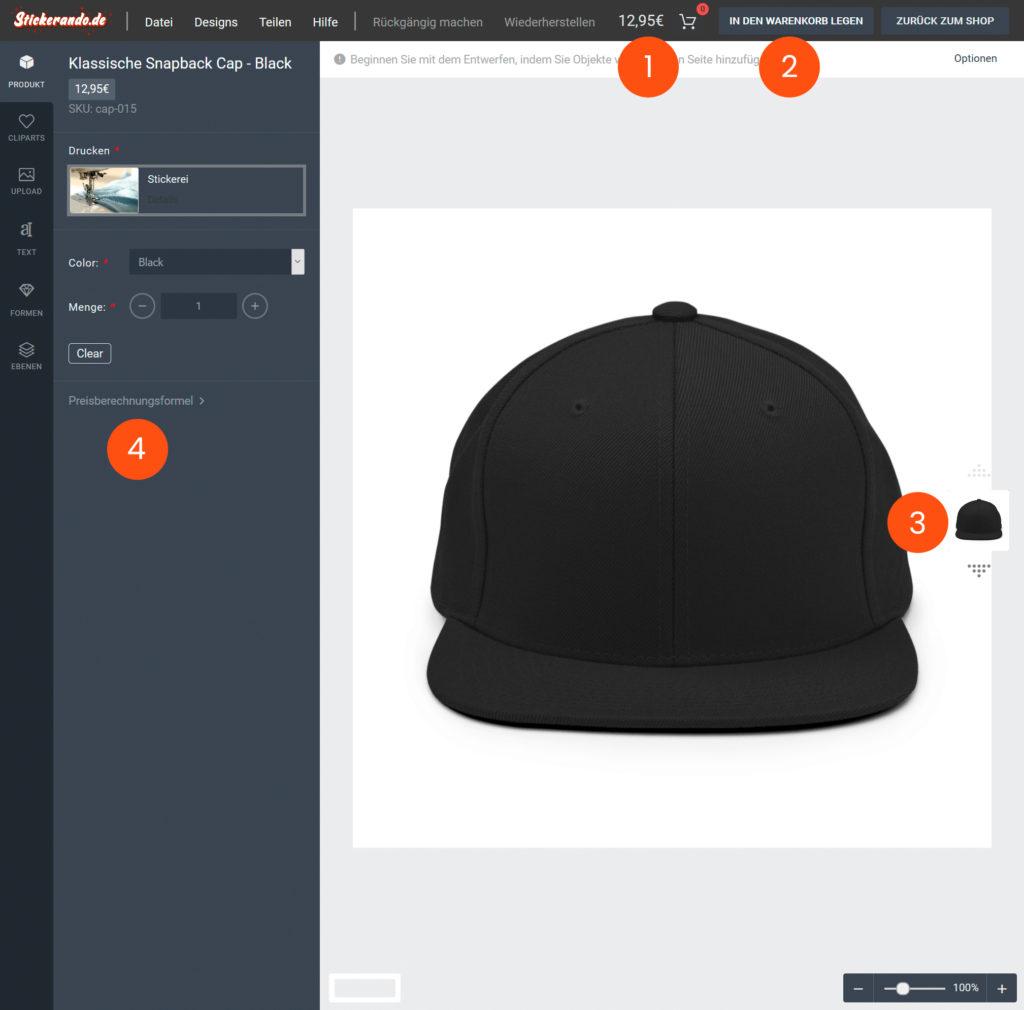 Stickerando - Design-Tool