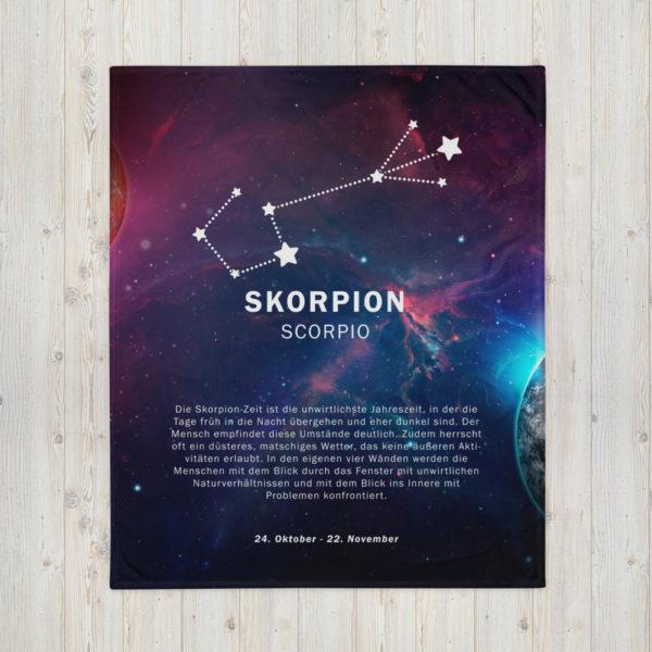 tagesdecke sternenzeichen skorpion 2