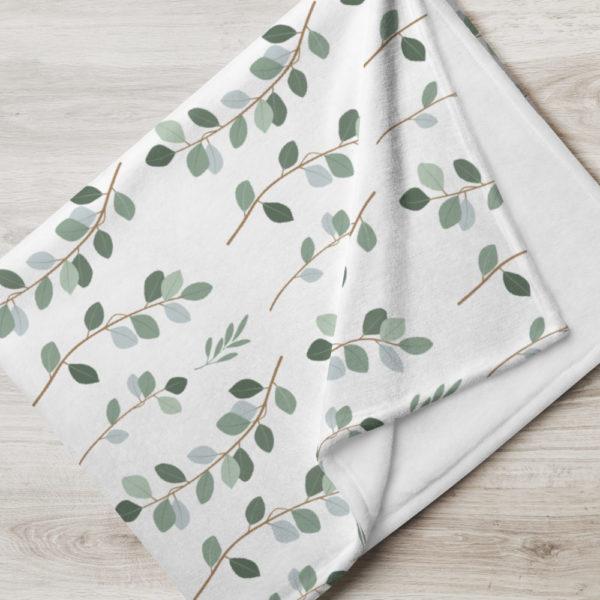 Tagesdecke - Blättermuster Hanna