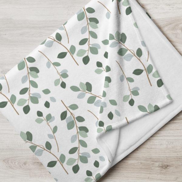 Tagesdecke - Blättermuster Lina
