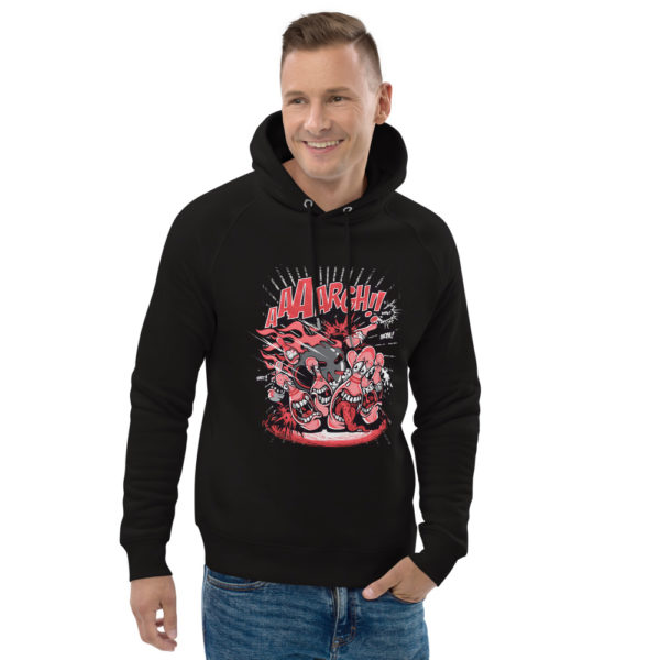 unisex eco hoodie black front 2 602fd3bf8deff