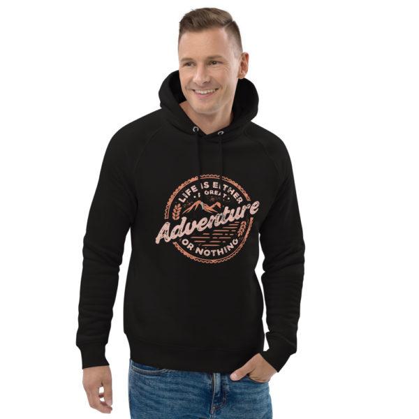 unisex eco hoodie black front 2 602fd4c2ecb66