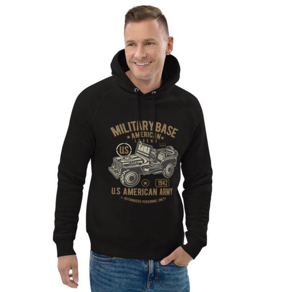 unisex eco hoodie black front 2 603003f1e7465