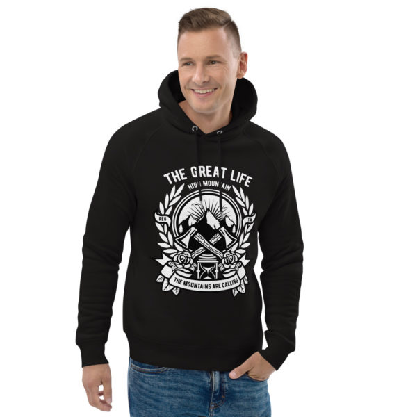 unisex eco hoodie black front 2 6030fa7d30c9a