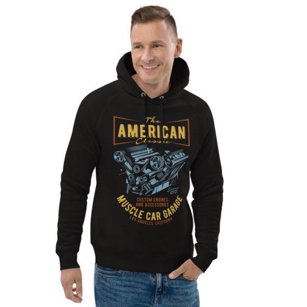 unisex eco hoodie black front 2 609254c13624c