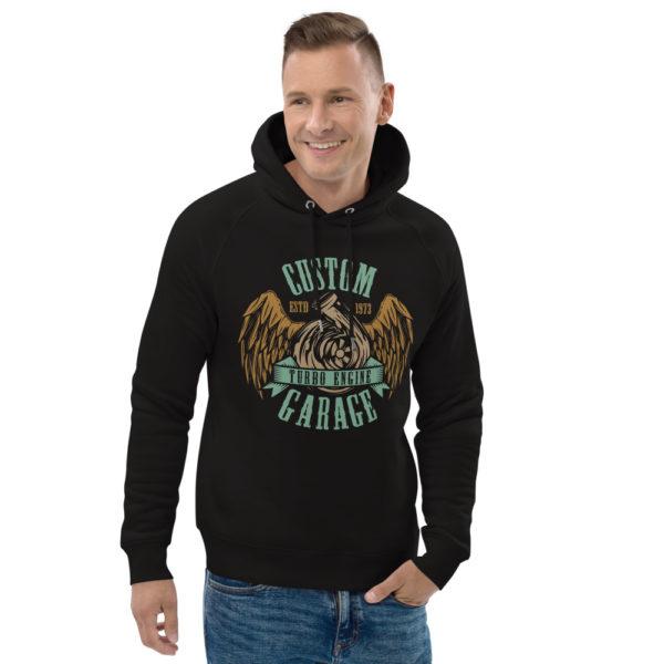 unisex eco hoodie black front 2 6092556ed8f9c