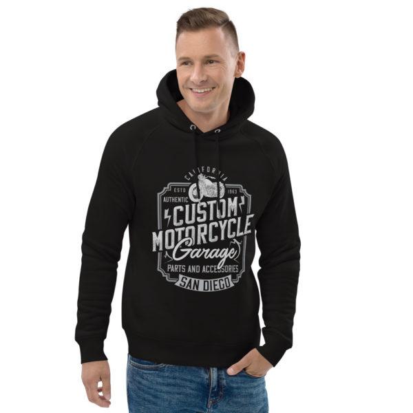 unisex eco hoodie black front 2 60925d7d3faf2
