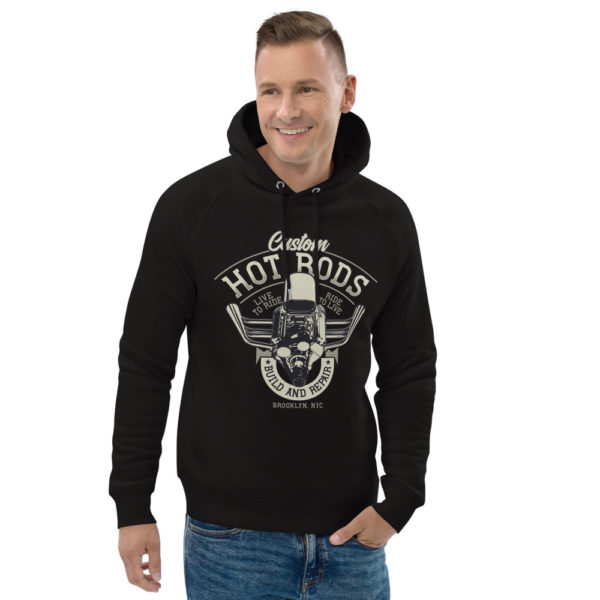 unisex eco hoodie black front 2 609260c300df6