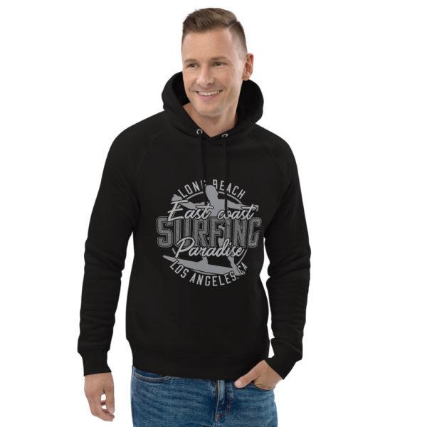 unisex eco hoodie black front 2 609a414c98307