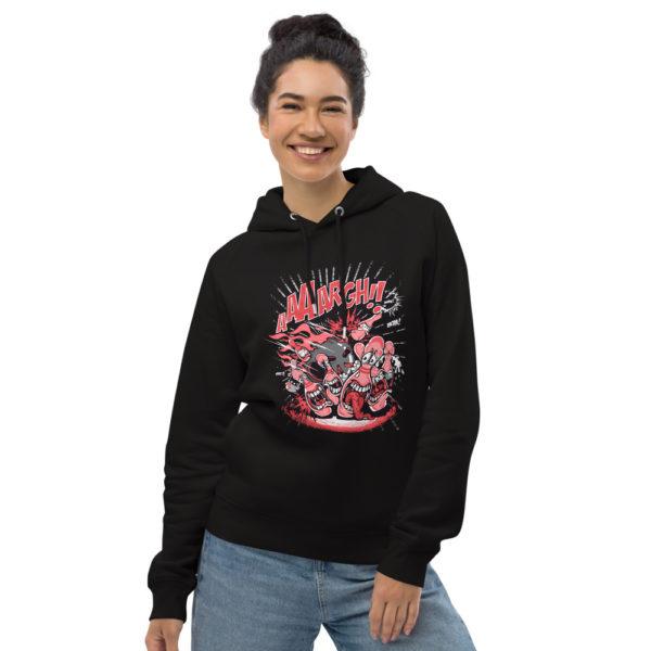unisex eco hoodie black front 602fd3bf8dd68