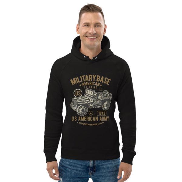 unisex eco hoodie black front 603003f1e6e9d