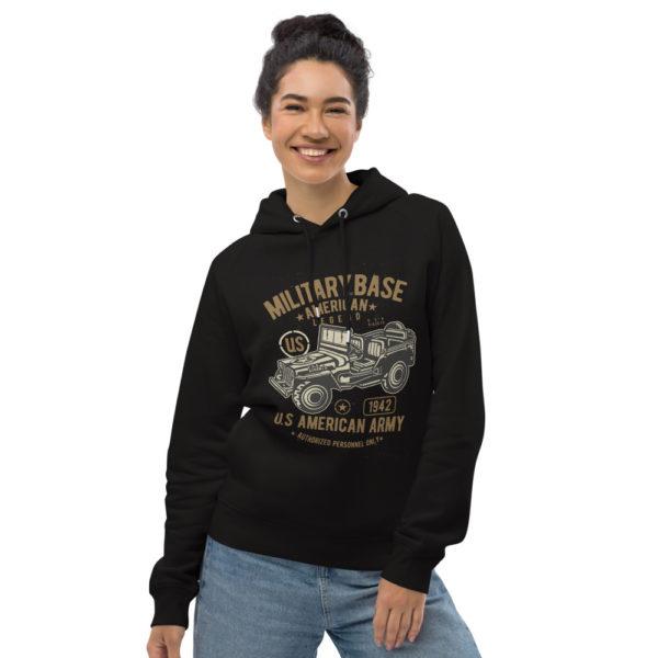 unisex eco hoodie black front 603003f1e7221