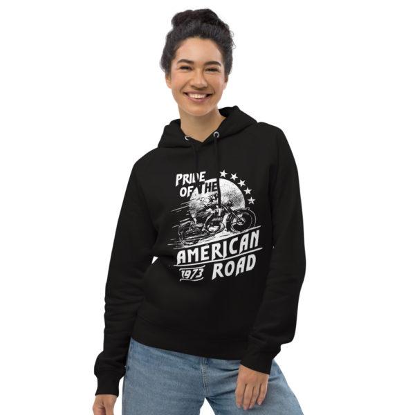 unisex eco hoodie black front 603006f0b81ef