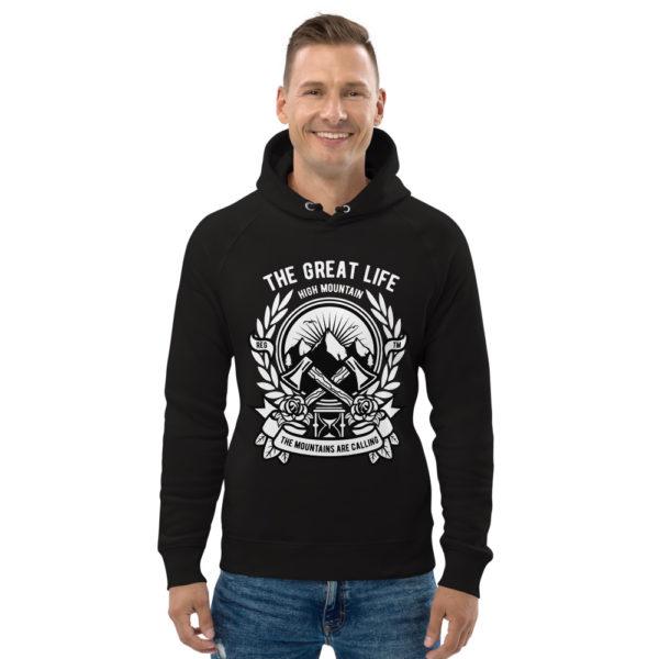 unisex eco hoodie black front 6030fa7d307fc