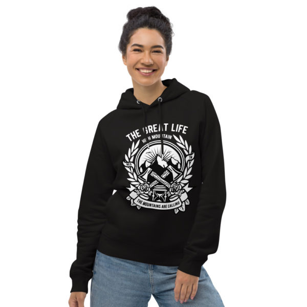 unisex eco hoodie black front 6030fa7d30b4a