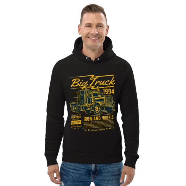 unisex eco hoodie black front 603100b4c224b