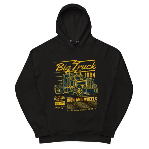 unisex eco hoodie black front 603100b4c232d