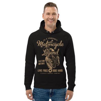 unisex eco hoodie black front 608fcdf472357