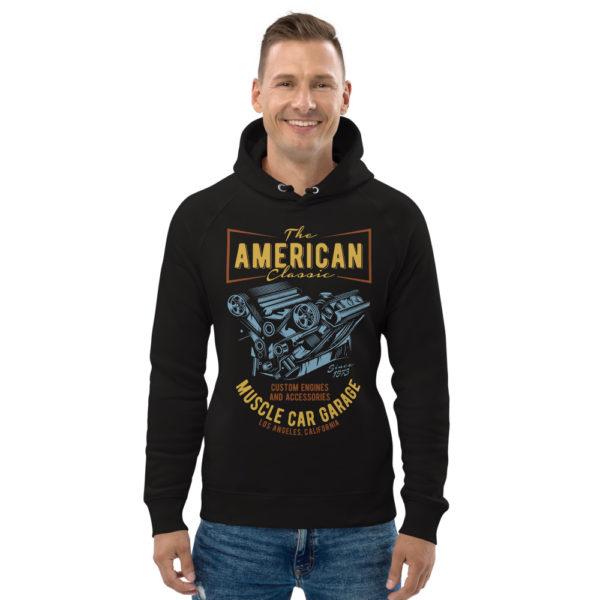 unisex eco hoodie black front 609254c135e6a
