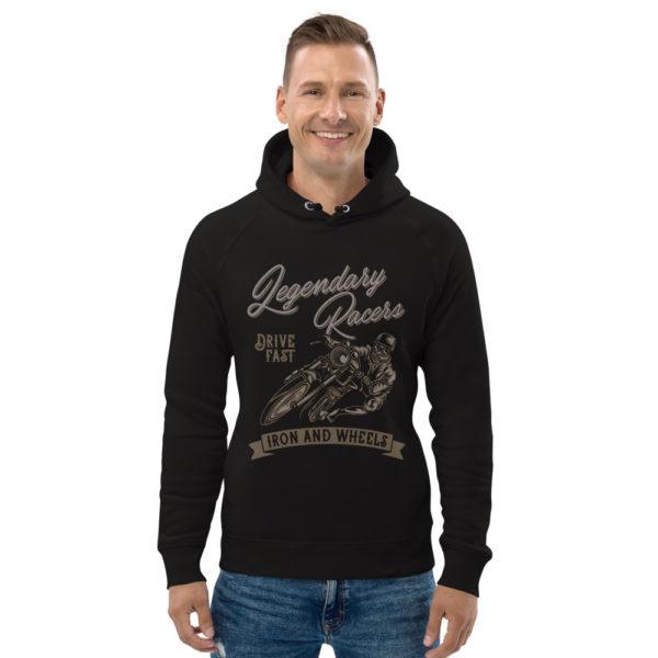 unisex eco hoodie black front 60925bb1e6397
