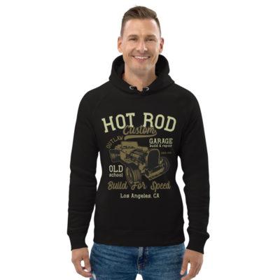 unisex eco hoodie black front 60925e2fb32af