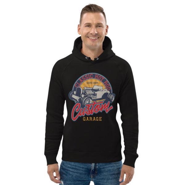 unisex eco hoodie black front 60925fd443d19