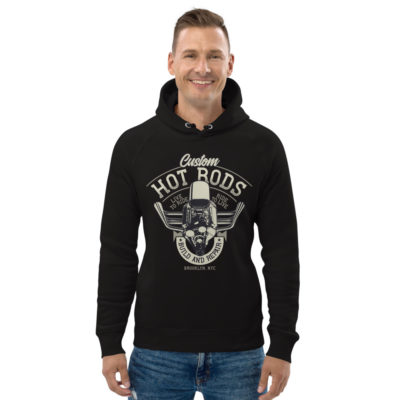 unisex eco hoodie black front 609260c300cd4
