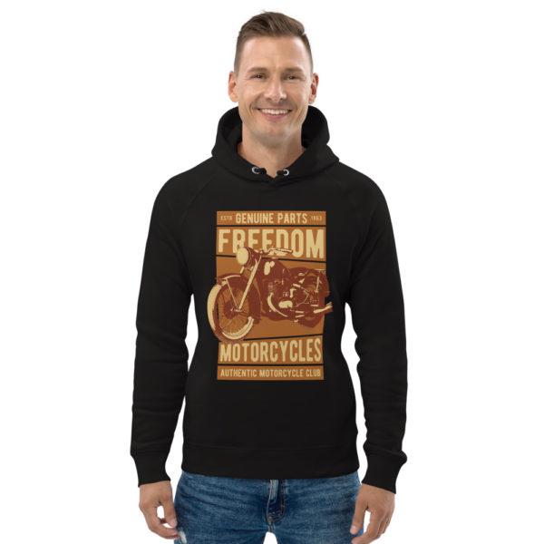 unisex eco hoodie black front 6093bc88dc152