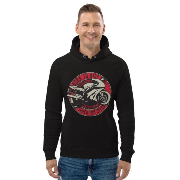 unisex eco hoodie black front 6093c1d0e3d5b