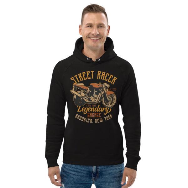 unisex eco hoodie black front 6093c2a794480