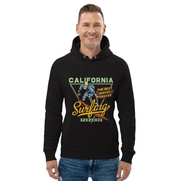 unisex eco hoodie black front 609a357de588b