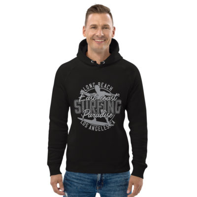 unisex eco hoodie black front 609a414c97f46