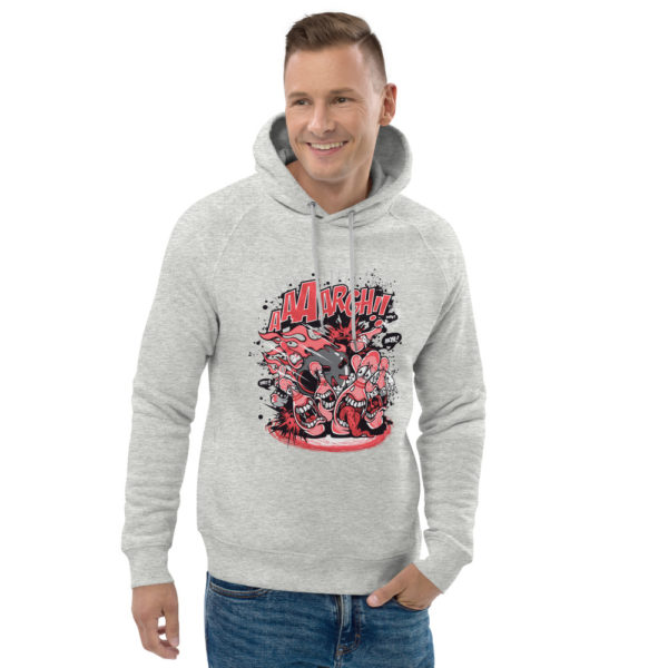unisex eco hoodie heather grey front 2 602fd3bf8e196