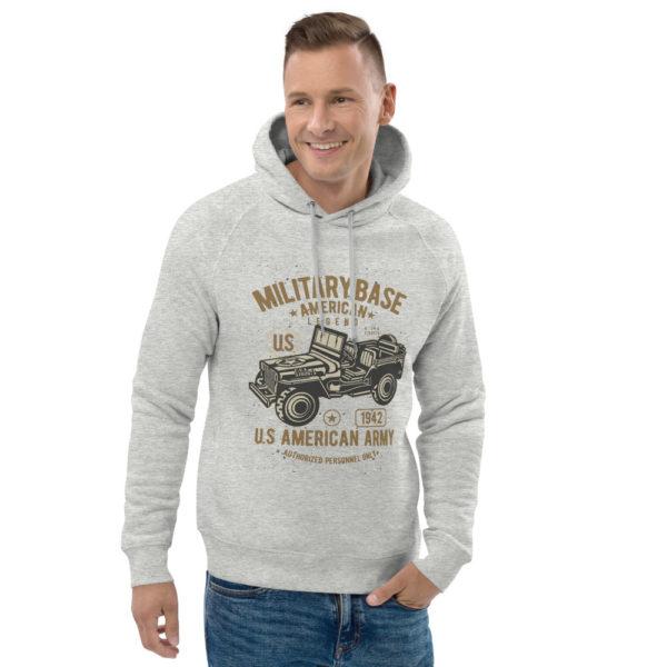 unisex eco hoodie heather grey front 2 603003f1e7887