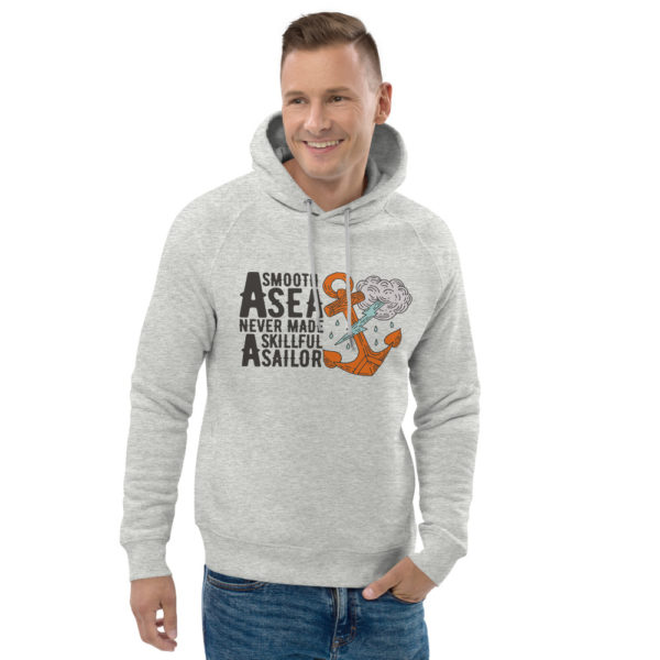 unisex eco hoodie heather grey front 2 6030f7779f022