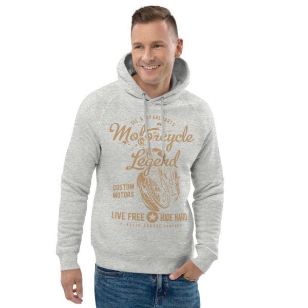 unisex eco hoodie heather grey front 2 608fcdf4729cc