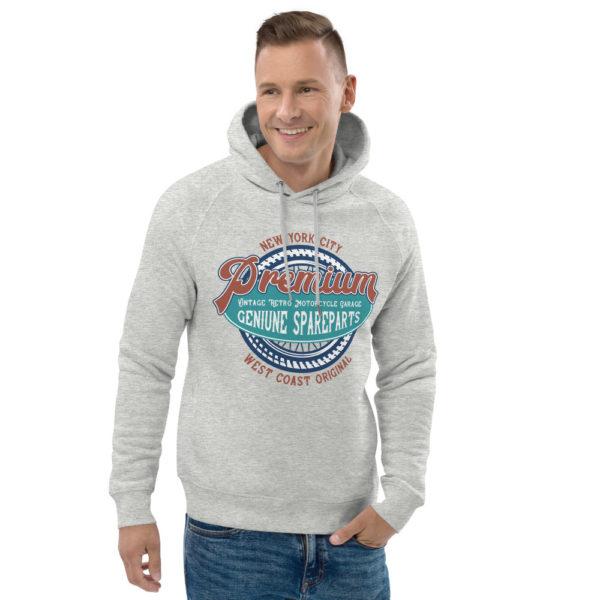 unisex eco hoodie heather grey front 2 6090465e07891